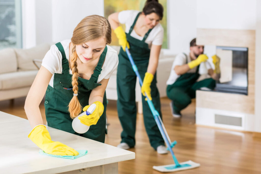 property managers in Rockville MD cleaning rental home